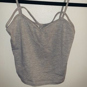 Grey crop tank top